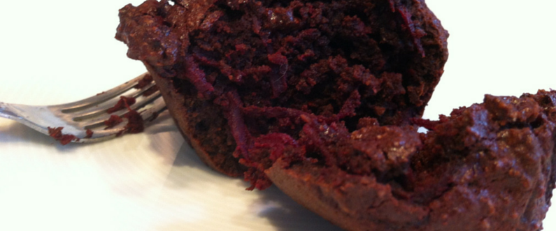 Spicy Beetroot Chocolate Muffins