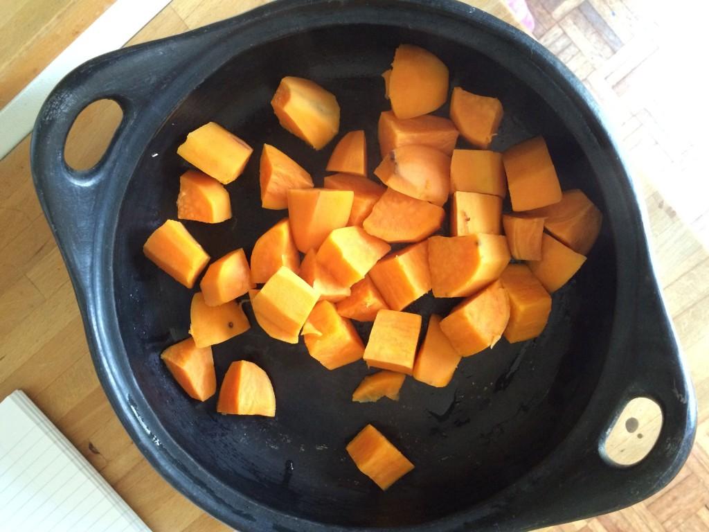Steamed sweet potatoes