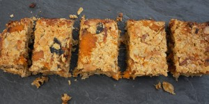 Apricot and almond flapjack