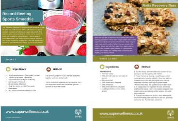 Fitness recipes