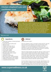 Chicken shepherd's pie recipe